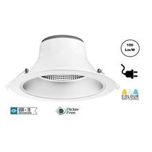 CCT Reflektor LED Downlighter 28w, 2380-2800 Lumen, Lochgröße Ø195mm, UGR19, Steckerfertig, 3 Jahre Garantie