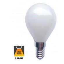 E14 Filament Ball Bulb 1.6w Milky, 140 Lumen, 2100K Flamme, 2 Jahre Garantie