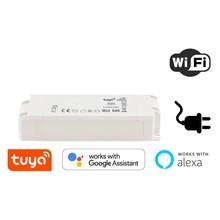 Tuya Wifi Dimbare LED Driver Max: 40w, Output: 25-42V, 1000mA, Stekkerklaar, Werkt met Google, Alexa, Tuya App, 3 Jaar Garantie