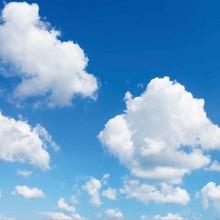 Fotodruckbild Wolken 60x60cm für 1x 60x60cm Led-Platte