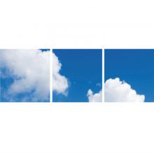 Fotoprint afbeelding Wolken 60x180cm voor 3x 60x60cm led paneel