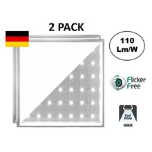 Backlite Led-Panel 62x62 cm, 40 W, 4400 Lumen, 4000 K Neutralweiß, flimmerfrei, 3 Jahre Garantie