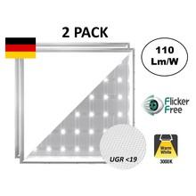 Backlite Led Panel 62x62 cm, 40W, 4400 Lumen, 3000 K Warmweiß, UGR<19, flimmerfrei, 3 Jahre Garantie