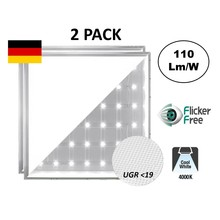 Backlite Led Panel 62x62 cm, 40W, 4400 Lumen, 4000K Neutrales Weiß, UGR<19, flimmerfrei, 3 Jahre Garantie