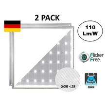 Backlite Led Panel 62x62 cm, 40W, 4400 Lumen, 6000K Tageslicht weiß, UGR<19, flimmerfrei, 3 Jahre Garantie
