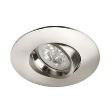 Led-Spot-Leuchte Stahl, tief, schwenkbar, IP20, Klicksystem. Säge Größe 72mm