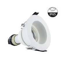 Led-Spothalterung vertieft weiß, IP65, inkl. GU10-Anpassung