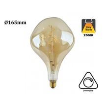 E27 Led Lamp 6w Edison, Big, 2500K Flame, 420 Lumen, Dimbaar, Amber Glas, 2 Jaar Garantie
