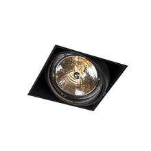 Trimless Einbaustrahler, Lochgröße 157x157mm, schwarz, inkl. Stuckrand (1x G53 AR111 Spot)