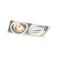 Trimless-Einbaustrahler, Lochgröße 300x157mm, weiß, inkl. Stuckkante (2x G53 AR111 Spot)