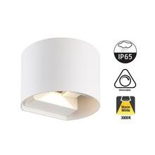 LED-Wandleuchte TEB 2x3 Watt, 2x 255 Lumen, 3000K Warmweiß, dimmbar, IP65, Weiß, 2 Jahre Garantie