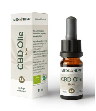 Medihemp Medihemp CBD Oil Raw 2,5% 10ml