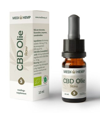 Medihemp Medihemp CBD Oil Raw 5% 10ml