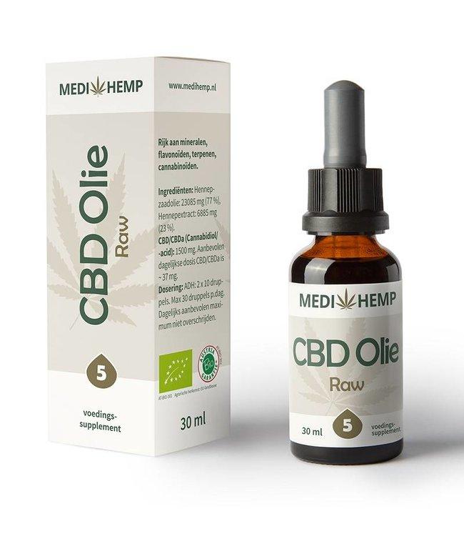 Medihemp Medihemp CBD Oil Raw 5% 30ml