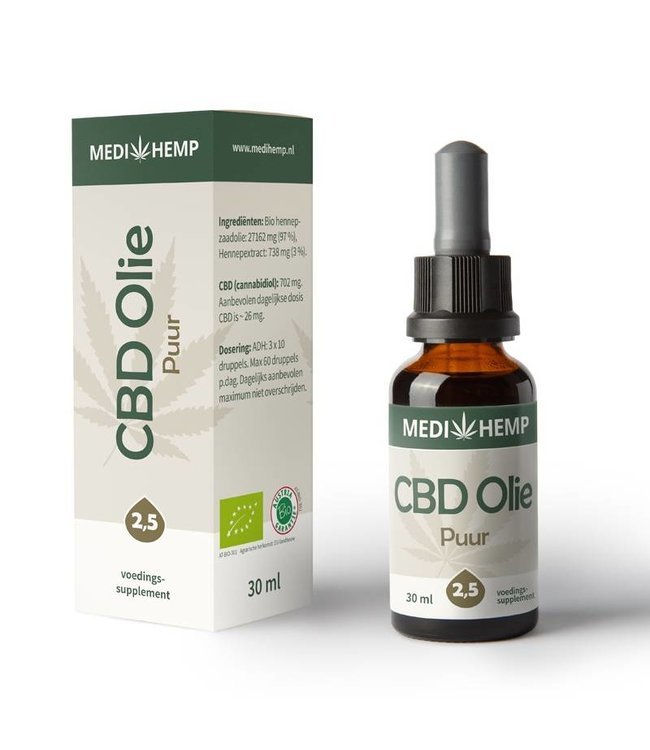 Medihemp Medihemp CBD Oil Pure 2,5% 30ml