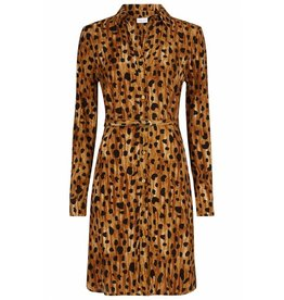 Fabienne Chapot Fabienne Chapot - Jurk - Panter Cognac - Haley Rose dress