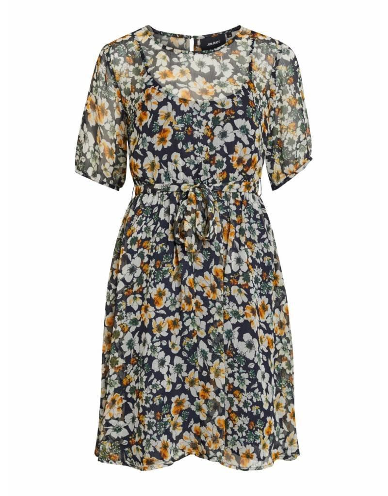 f0fc7a689989f1 Object - Jurk - Bloemen Blauw - 23029251 - JEFTA fashion more