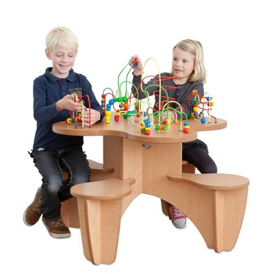 Kralenspiraal tafel