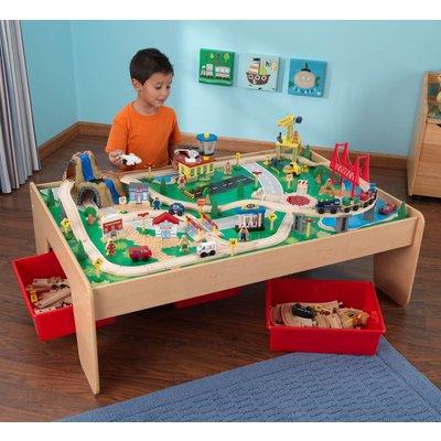 Table circuit train bois