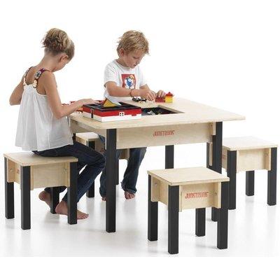 Rechthoekige Speeltafel met 4 zitjes