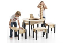 Play Table with Storage - large wooden play table