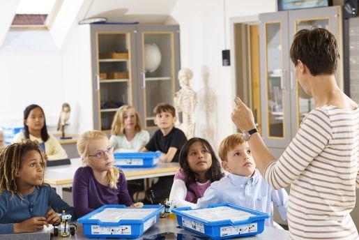 klassikaal les met lego education lesmateriaal