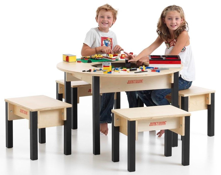 Round Lego Table With Storage Brick, Round Lego Table With Chairs