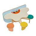 Speeltafel met 3 vaste zitjes