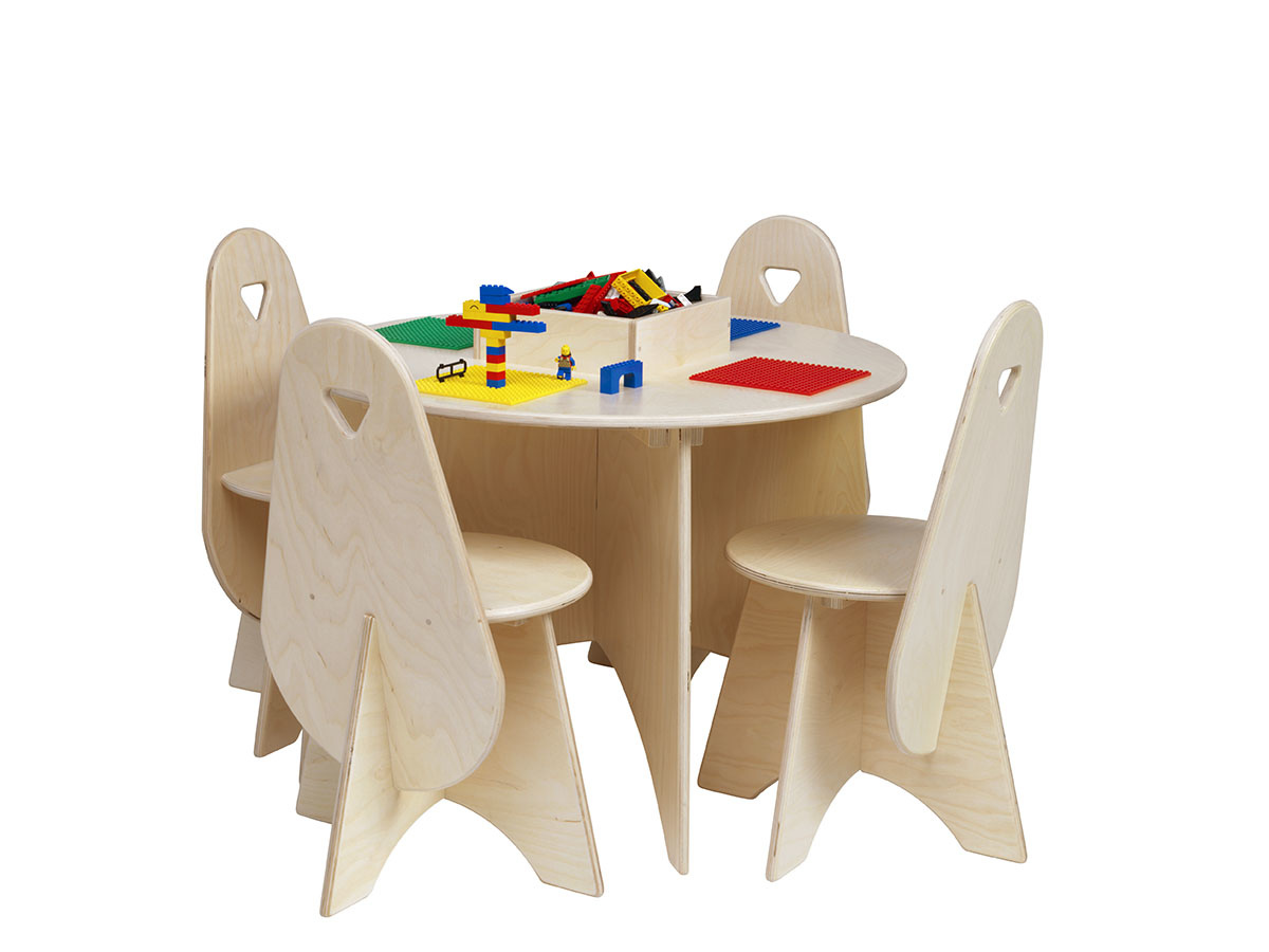 Lego Table With 4 Chairs Storage Bin, Round Lego Table With Chairs