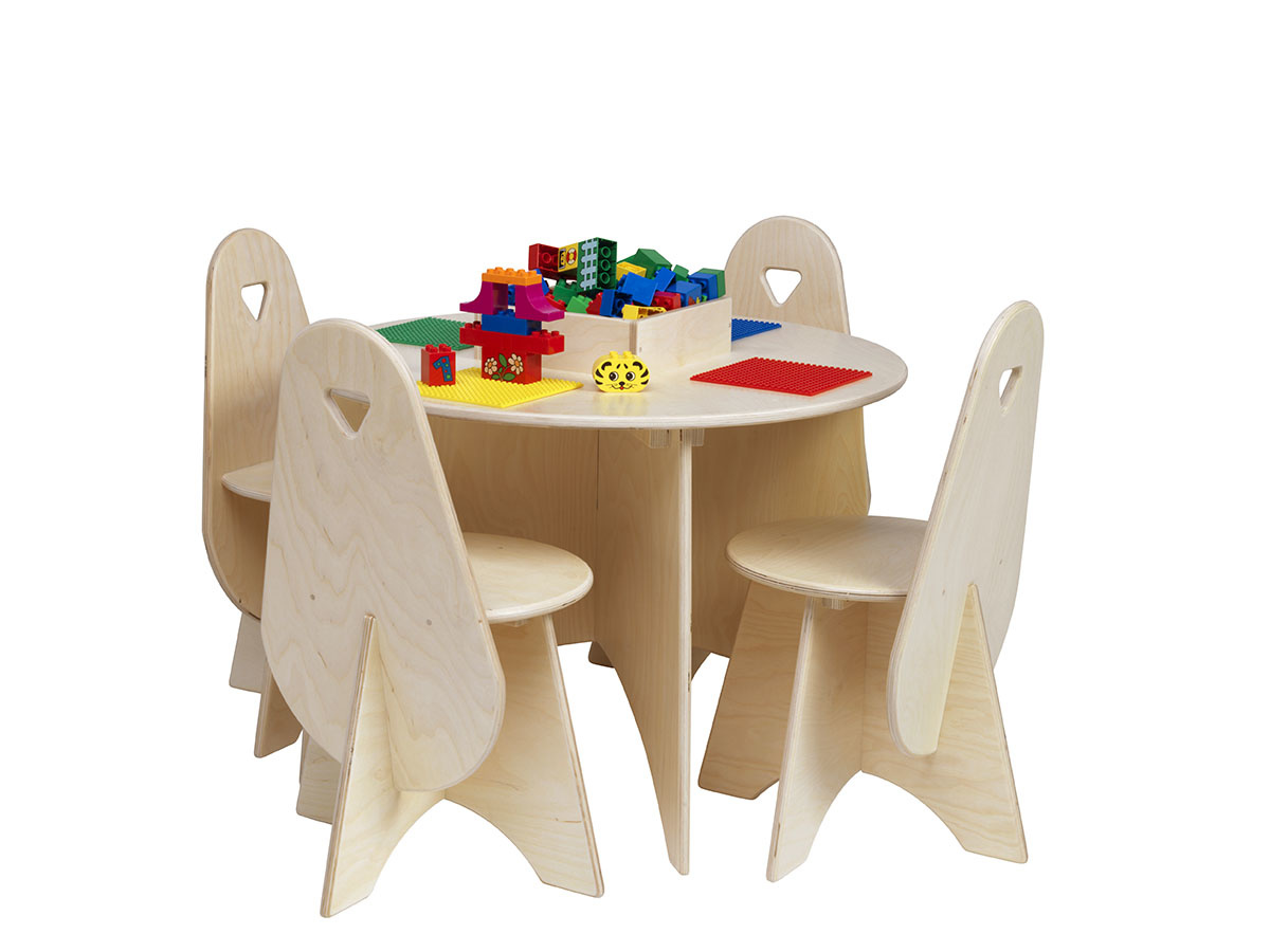 Lego Table With 4 Chairs Storage Bin, Lego Table With Storage Triangle And 3 Chairs