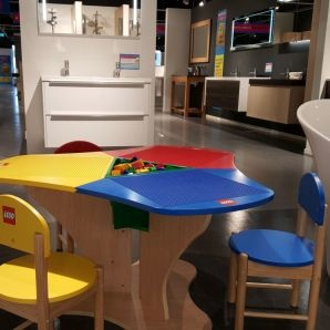Kids corner furniture and toys for play area and waiting room