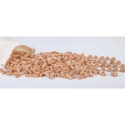 Jouet de construction en bois type Lego