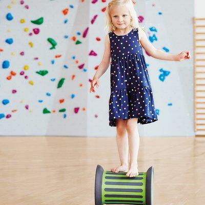Gonge Roller met zand - balanceer roller groen