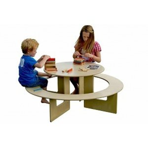 Kindertafel met bank