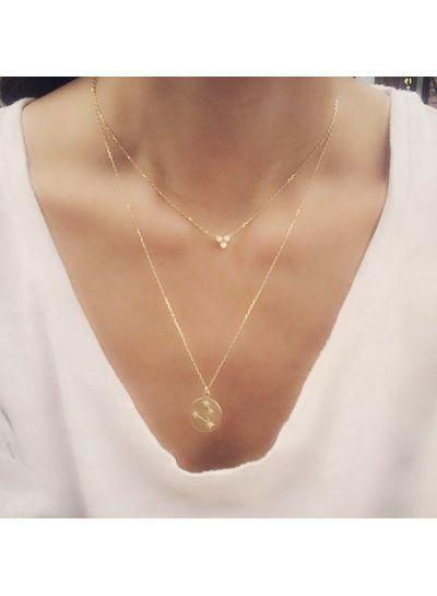 Adamarina Stier Konstellation Halskette