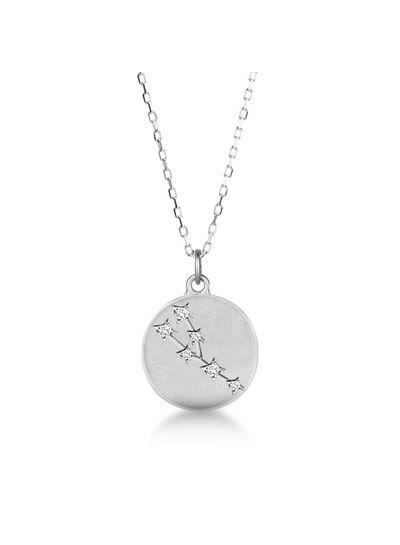 Adamarina Taurus  Constellation Necklace