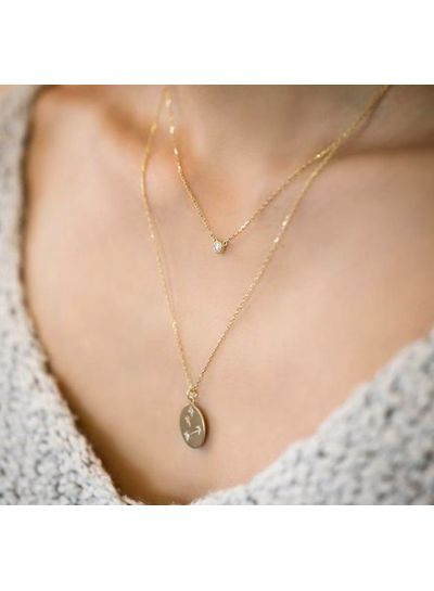 Adamarina Krebs Konstellation Halskette