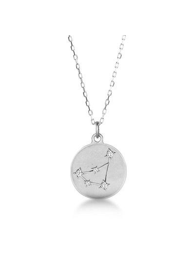 Adamarina Steinbock Konstellation Halskette