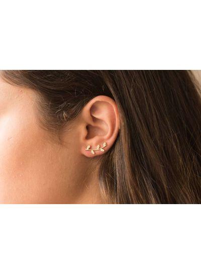 Adamarina Ithaka Gold · Ear Climber gold plated silver