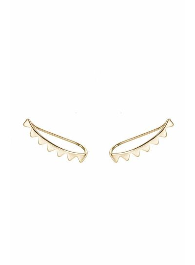 Adamarina Peaks Gold · Ear Climber gold plated silver