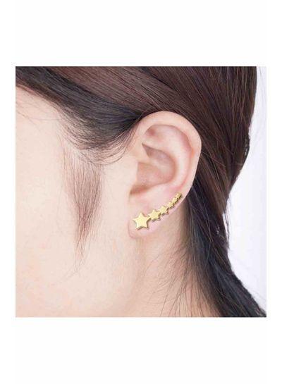 Adamarina Six stars Gold · Ear Climber gold plated silver