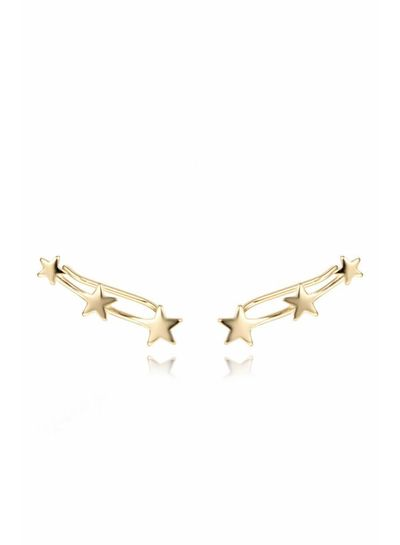 Adamarina Three Stars Gold ·  Ear Climber