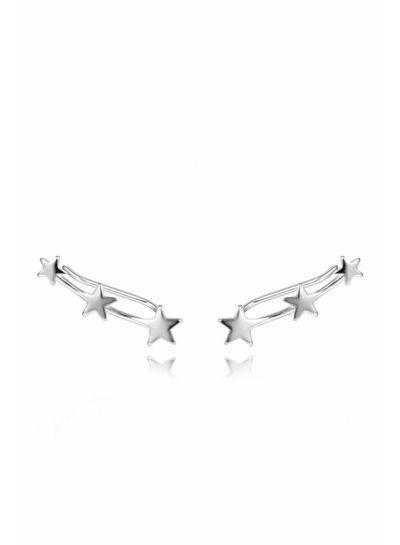 Adamarina Three Stars Silver ·  Ear Climber