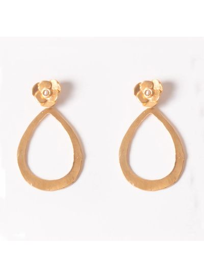 Adamarina Indra Earrings  Pearl