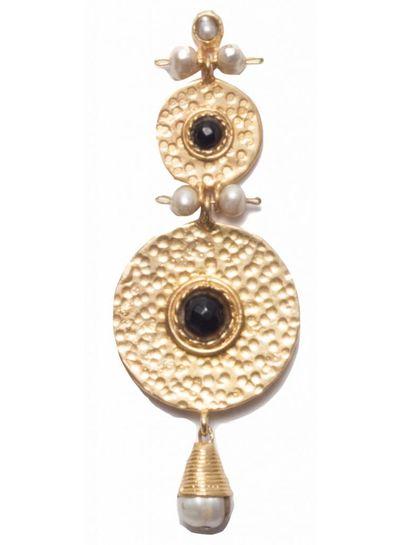 Adamarina Helena XL Earrings Black Onyx