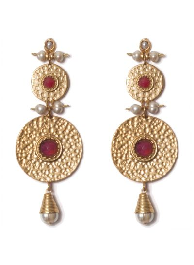 Adamarina Helena XL Earrings Pink