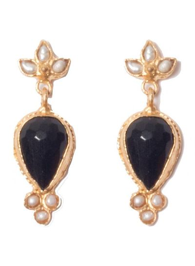 Adamarina Sammy Green Earrings