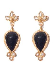 Adamarina Sammy Black Earrings