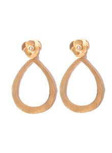 Adamarina Indra Earrings  Pearl