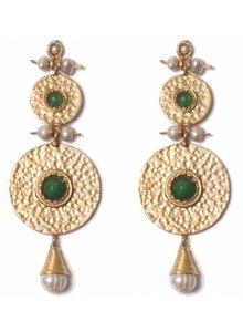 Adamarina Helena XL Earrings Green